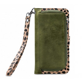 Mobilize 2in1 Gelly Wallet Zipper Hülle iPhone 11 Pro Max olivgrün / leopard