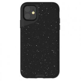 Mous Contour Lederhülle iPhone 11 speckled schwarz