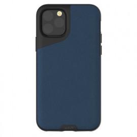 Mous Contour Lederhülle iPhone 11 Pro blau