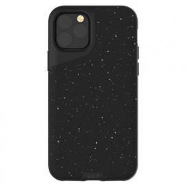 Mous Contour Lederhülle iPhone 11 Pro speckled schwarz