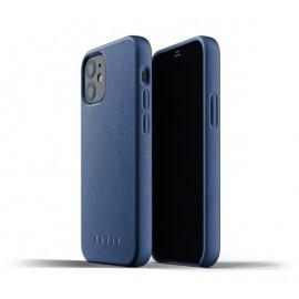 Mujjo Lederhülle iPhone 12 Mini blau