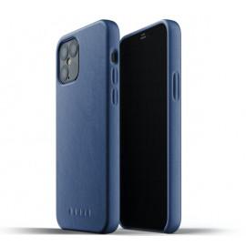 Mujjo Lederhülle iPhone 12 / iPhone 12 Pro blau
