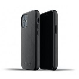 Mujjo Lederhülle iPhone 12 Mini schwarz