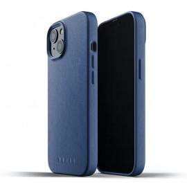 Mujjo Leather Case iPhone 13 blau