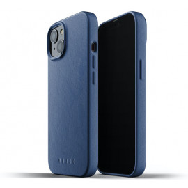 Mujjo Lederhülle iPhone 13 Mini blau
