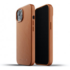 Mujjo Leather Case iPhone 13 braun
