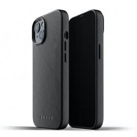 Mujjo Leather Case iPhone 13 schwarz