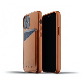 Mujjo Lederhülle Wallet Case iPhone 12 Mini braun
