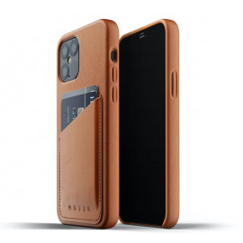 Mujjo Lederhülle Wallet Case iPhone 12 / iPhone 12 Pro braun