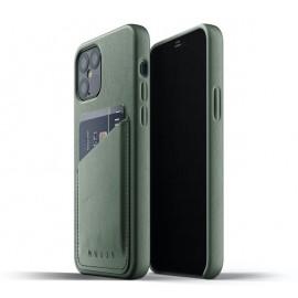 Mujjo Lederhülle iPhone 12 / iPhone 12 Pro grün