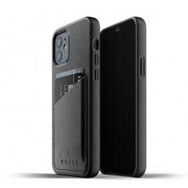 Mujjo Lederhülle iPhone 12 / iPhone 12 Pro schwarz