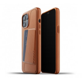 Mujjo Lederhülle Wallet Case iPhone 12 Pro Max braun