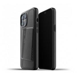 Mujjo Lederhülle Wallet Case iPhone 12 Pro Max schwarz