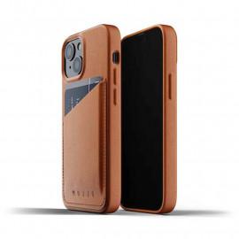 Mujjo Leder Wallet Case iPhone 13 Mini braun