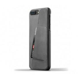 Mujjo Leather Wallet Case iPhone 7 Plus grau