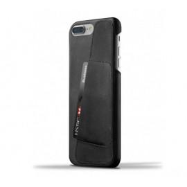 Mujjo Leather Wallet Case iPhone 7 Plus schwarz