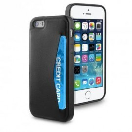 Muvit Leatherette Cardslot Case iPhone 5(S)/SE schwarz