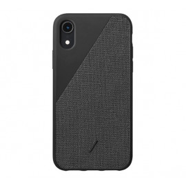 Native Union Clic Canvas case iPhone XR Schwarz