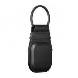 Nomad AirTag Leather Schlüsselanhänger schwarz