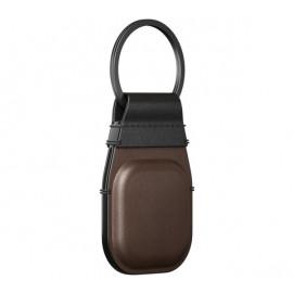 Nomad AirTag Leather Schlüsselanhänger braun