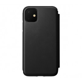 Nomad Rugged Folio Lederhülle iPhone 11 schwarz