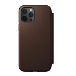 Nomad Rugged Folio Leder Hülle iPhone 12 Pro Max Braun