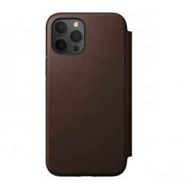 Nomad Rugged Folio Leder Hülle iPhone 12 / 12 Pro Braun