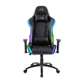 Nordic Gaming Blaster beleuchteter RGB / LED Gaming Stuhl schwarz