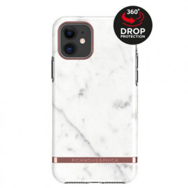 Richmond & Finch Freedom Series Apple iPhone 11 White Marble / Rose Gold