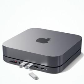 Satechi Aluminum Stand Hub Mac Mini grau