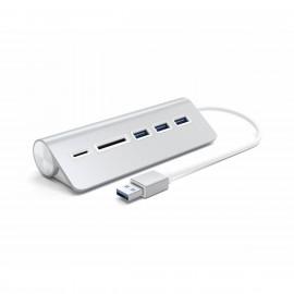 Satechi Type-A Aluminium USB Hub & Kartenleser Silber