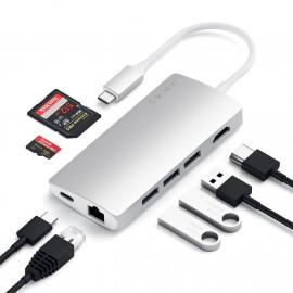 Satechi USB-C Multi-Port Adapter 4K Ethernet V2 Silber