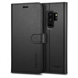 Spigen Galaxy S9 Plus Case Wallet S schwarz