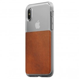 Nomad Clear Case iPhone X / XS braun