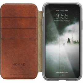 Nomad Clear Folio Case iPhone X / XS braun
