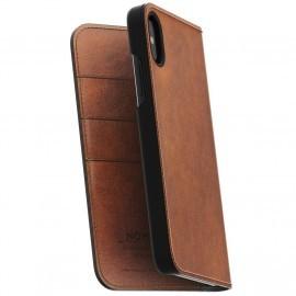 Nomad Leather Folio Case iPhone X / XS braun