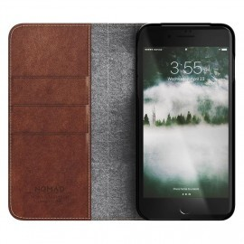 Nomad Leather Folio Case iPhone 7 / 8 Plus braun