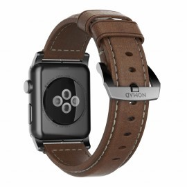Nomad Lederarmband Apple Watch 42 / 44 mm braun / schwarz