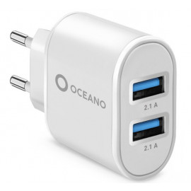 SBS Recycled Plastic Travel Charger 10W weiß