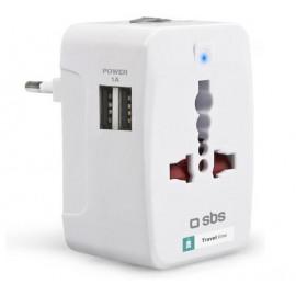 SBS Reise Adapter mit 2 USB Ausgängen