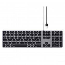 Satechi Aluminium deutsche Kabel-Tastatur Space Gray (wired)