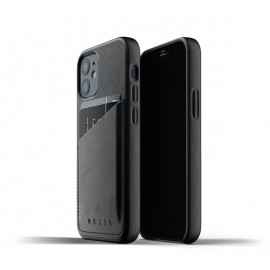 Mujjo Leder Wallet Case iPhone 12 Mini schwarz
