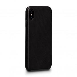 Sena Deen Leatherskin Snap On Case iPhone X / XS schwarz