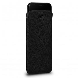 Sena UltraSlim leather Sleeve for iPhone XR schwarz