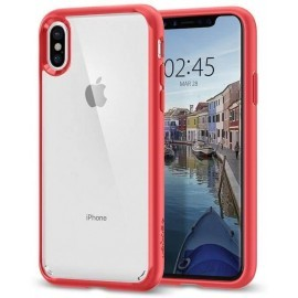 Spigen Ultra Hybrid Case iPhone X rot