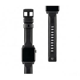 UAG Leder Uhrenarmband 44 / 42 mm schwarz