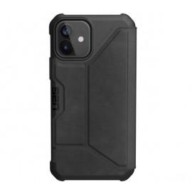 UAG Metropolis stoßfeste Leder-Hülle iPhone 12  / iPhone 12 Pro schwarz