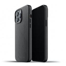 Mujjo Leather Case iPhone 13 Pro schwarz