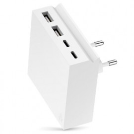 usbepower HIDE Mini+ 27W 4-in-1 wall charger weiß