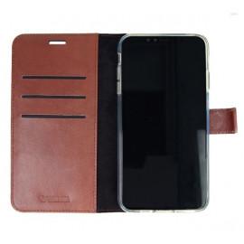 Valenta Booklet Leather Gel Skin iPhone11 Braun